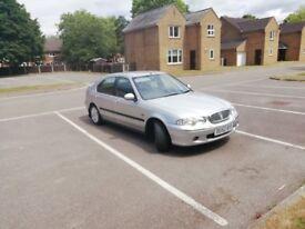 2002 Silver Rover 45 starts and drives good, MOT till October 27