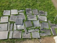 FREE FOR COLLECTION selection of black bathroom tiles 20cmx20cm approx (S8)