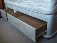 Silentnight double divan bed and headboard £30