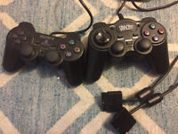 2x wired playstation controller