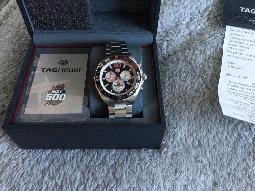 Tag Heuer Indy 500 Chronograph Formula 1 Watch 4 Months
