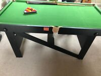 6 foot x 3 foot pool table on legs