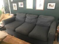 FREE - 3 seater grey textile sofa. North East London