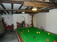 Domestic pool table