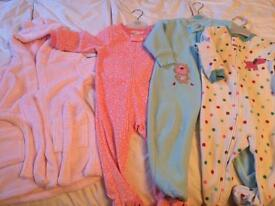 3 cosy sleep suits and 1 dressing gown 12-18 months