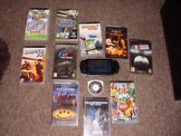 SONY PSP WITH FILMS AND GAMES