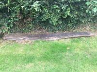Solid 16th century wooden beam removed from property ideal garden art