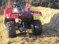 Honda TRX500 Foreman Quad Bike Agri Road Registered 2014 Model