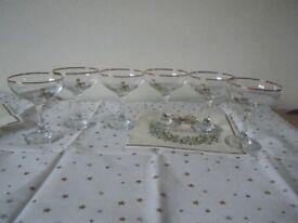 6 VINTAGE BABYCHAM GLASSES