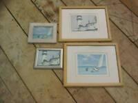 Selection Of Edward Hopper Framed Pictures