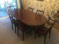 Large traditional table with six chairs