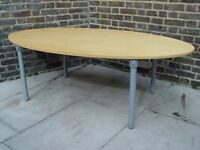 Solid Wooden Conference Table With Metal Legs Furniture