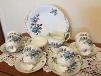 Paragon Blue Mist Vintage China 15 Pieces