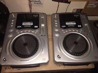 2 x Kam KCDJ 110 Professional Disc sampler seamless loop and reloop anti shock CHEAP DJ DECKS SET !