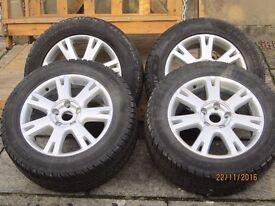 Touareg alloys with 4 winter tyres