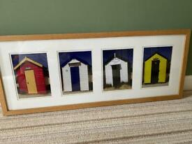 """Southwold """"Royal Beach Huts"""" Framed Photo by Peter Farrington"""