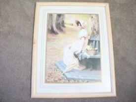 Beautiful Framed Print 'Gathering Primroses' by Annie Henniker
