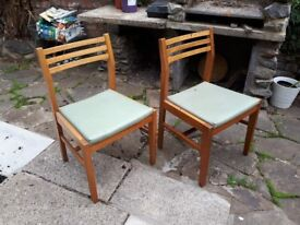 Vintage Dancer & Hearn Military Mess Chairs