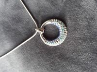 Silver necklace pendant sterling silver 20 cm