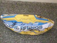 2017 Rhinos signed rugby ball