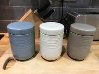 Tea, coffer & sugar pots / canisters
