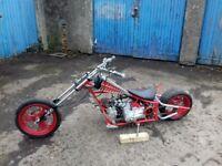 Black widow mini 49cc Spiderman chopper