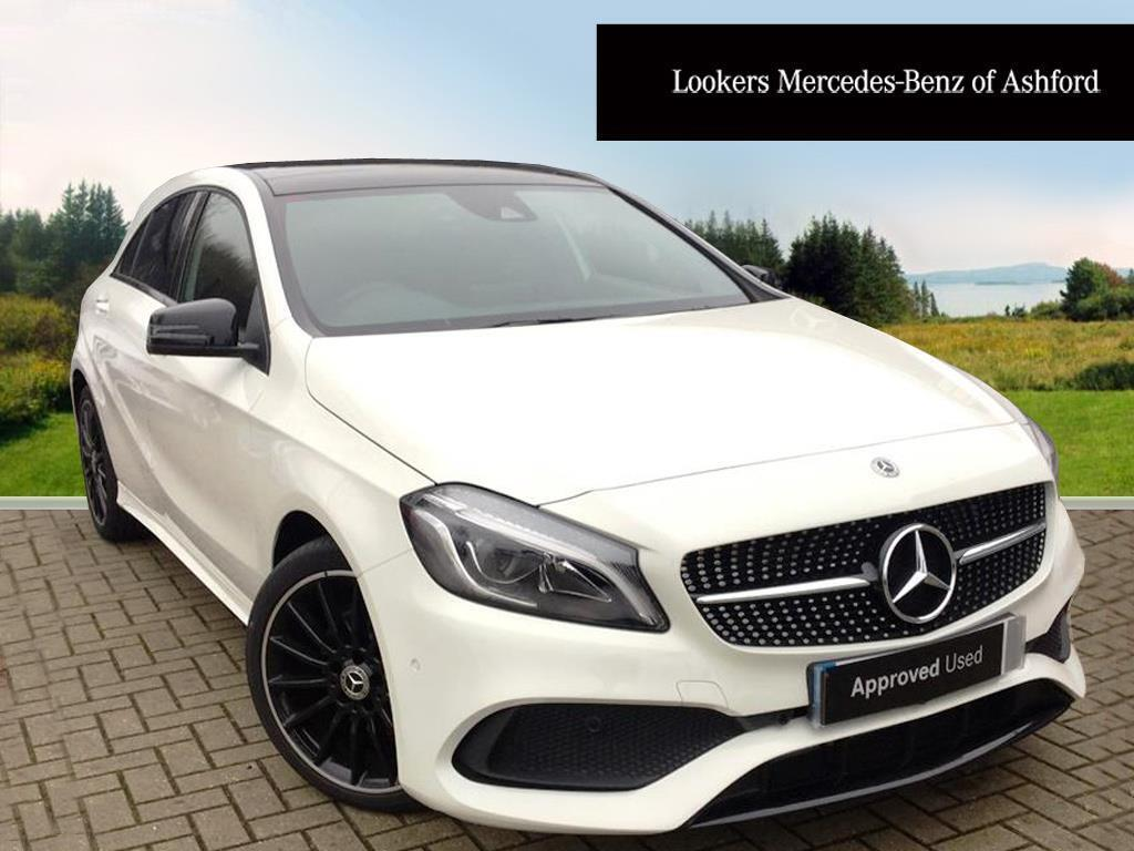 mercedes benz a class a 200 d amg line premium plus white 2017 12 29 in ashford kent gumtree. Black Bedroom Furniture Sets. Home Design Ideas