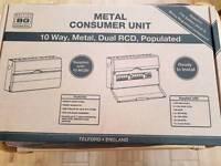 BG METAL CONSUMER UNIT 10 WAY (NEW)