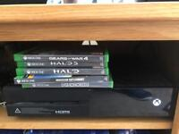 Xbox one with headset , rechargeable controller 6 games