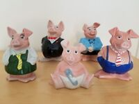 NatWest Wade Pigs - FULL SET - Immaculate Condition