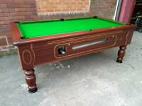 7x4 Tournament Slate Bed Pub Pool Table. New Recover and Accessories. Local Delivery Included.