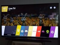 LG 50 inch Smart TV 3D LED with WebOS - SOUND BAR included