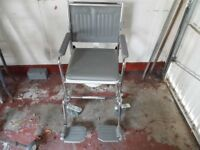 Wheelchair commode, as new condition