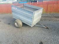 Logic 5x3 quad atv livestock trailer