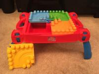 Mega Bloks table and set of blocks