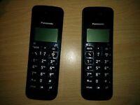 Panasonic KXTGB112E Cordless Telephone (twin handsets) - nearly new