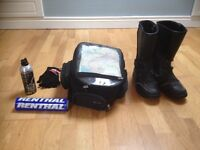 Motorbike boots and clothing