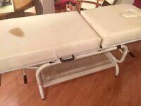 Massage table, small mark on mattress