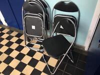 Six foldable chairs