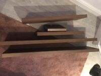Floating shelves dark wood perfect condition