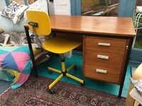 Modernist character writing desk with draws 1973.