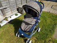 Britax Buggy Blue with large carry tray £25 or nearest offer