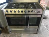 Belling range gas cooker and electric oven 100cm