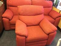 Two seater sofa and recliner armchair can deliver