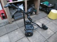 POWAKADDY FW2 ELECTRIC GOLF TROLLEY,NEW 22AH BATTERY,&CHARGER.