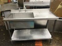 Stainless Steel Sink Unit with sink cover
