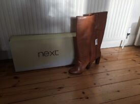 Ladies NEXT knee high boots in CAMEL colour