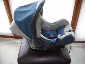 Britax Car Seat with iso fix base.