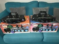 2 American Dj Gobo Motion LED Stage Lights in as new condition and boxed.
