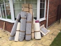 Free carpet and underlay